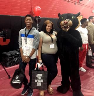 Students with BCCC Panther